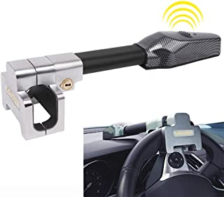 Antirrobo Coche con Alarma Bloqueo del Volante Giratorio Ajustable Autodefensa Barra Antirrobo Coche