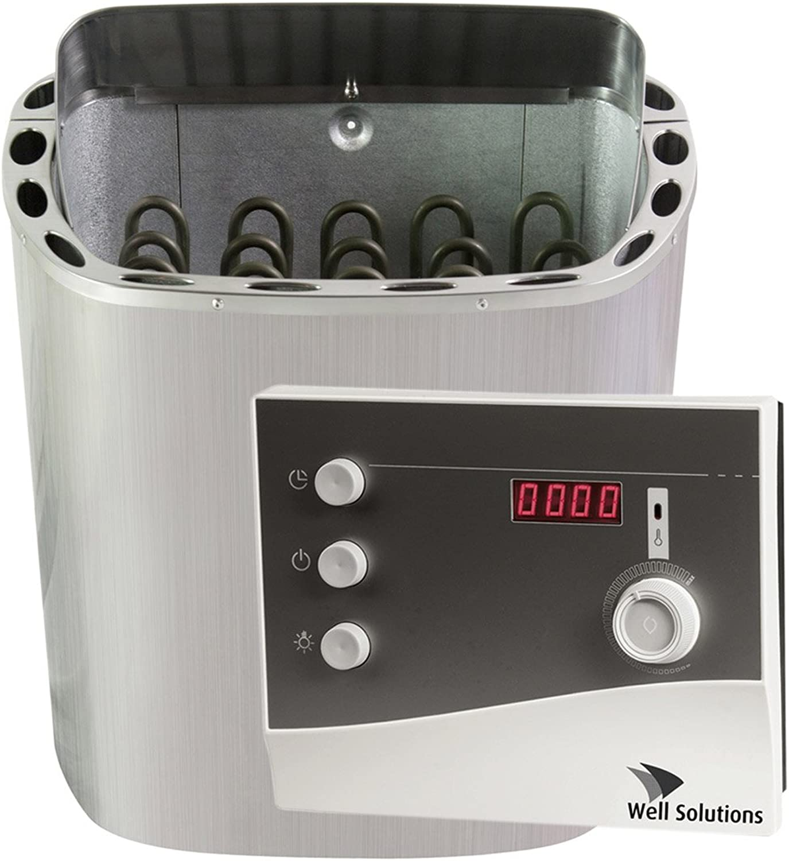 SET Edelstahl Sauna Ofen Scandia 8 kW Ondal Steuerung K2 mit Zeitvorwahl und Steinen