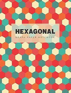 Hexagonal Graph Paper Notebook: 1/4 Inches Hexagons Grid Journal Organic Chemistry Notebook School & Teaching Supplies