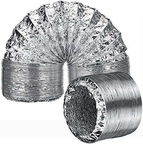 AZITICY Tubo de ventilación de aluminio flexible de 150 mm, para instalaciones de aire acondicionado, secadoras, campanas extractoras y secadoras (150 mm de diámetro x 2 m)