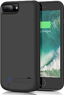 amazon com iphone 7 plus battery charger cases cases, holstersbattery case for iphone 8 plus 7 plus, upgraded smtqa [8000mah] portable