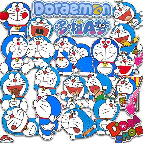 MBGM Dorae Anime adesivi mon Blue Fat Trolley Caso Del Telefono Chitarra Computer Tazza Acqua Adesivo Impermeabile Cartone Animato