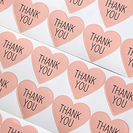 Pink, 1.5 Inch Pink, 1.5 Inch Sealed with Heart Stickers for Envelopes Packages Thank You Cards Pink Sealed with Love Stickers 1.5 Inch