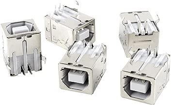 Sourcingmap PCB-USB Tipo B a 4 Poli a connettore Jack Femmina, Confezione da 5 Pezzi