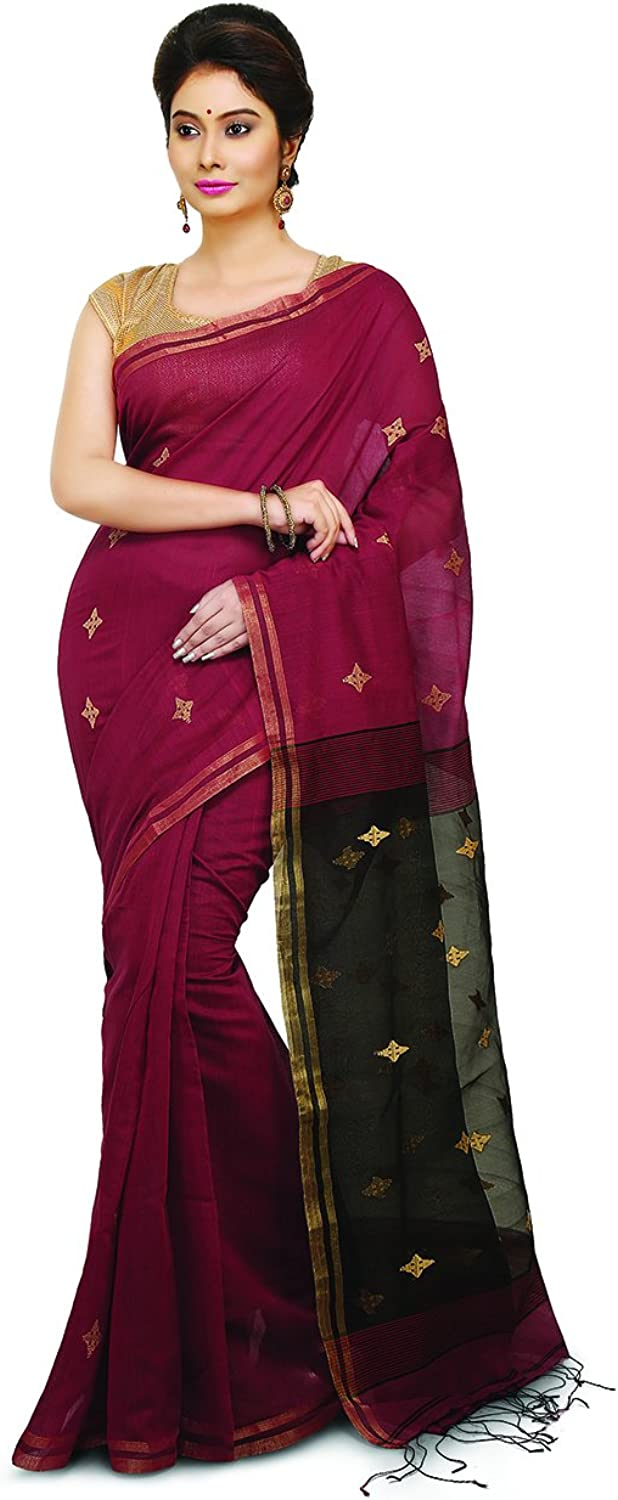 Maahir Garments Exclusive Indian Ethnicwear Pure Silk and Cotton brown and Black Coloured Handloom sico Saree