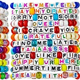 kandi bar Good Vibes Rave Bracelets (12-Pack) | handmade PLUR accessory for EDM music festival outfits | wear stylish colors & authentic phrases for Women, Men, & NB| every pack is unique | EXPLICIT