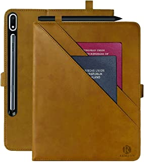 Remson Premium Leather Folio Stand Smart with Auto Sleep/Wake, Multiple View Angle, Card Slot Pocket Wallet Cover for Sams...