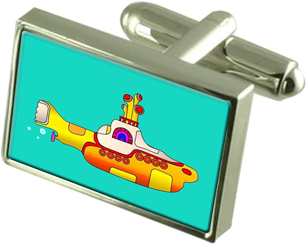 Select Gifts Yellow High SALENEW very popular! quality new Submarine with Cufflinks Pouch