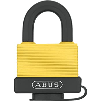 ABUS 70/45 All Weather Solid Brass Yellow Padlock Keyed Different - Steel Shackle