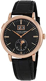 A. Lange & Sohne Saxonia Moon Phase Automatic Black Dial Men's Watch 384.029