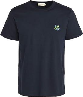 Maison Kitsune Men's T-Shirt with Neon Fox Head Patch