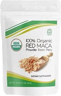 Madre Nature - 100% Peruvian Organic Gelatinized Red Maca Powder - (1LB) - non-GMO - Vegan - Gluten Free (16oz)
