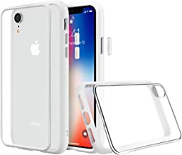 RhinoShield Modular Case for iPhone XR [Mod NX] | Customizable Shock Absorbent Heavy Duty Protective Cover - Compatible w/Wireless Charging & Lenses - Shockproof White Bumper w/Clear Back