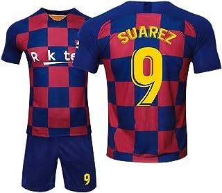 LDFN, Uniforme de Futbol Luis Alberto Suárez # 9 Conjunto de fútbol, de Malla Transpirable y de Secado rápido de Manga Corta Deportes, Mujeres y niños (Color : A, Size : Child-28)
