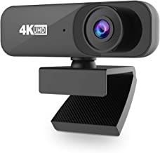 4K 30FPS Webcam with Microphone, UHD USB Computer Camera, Built-in Dual Noise Reduction Mics, 8 megapixels,Self-Beauty,120...