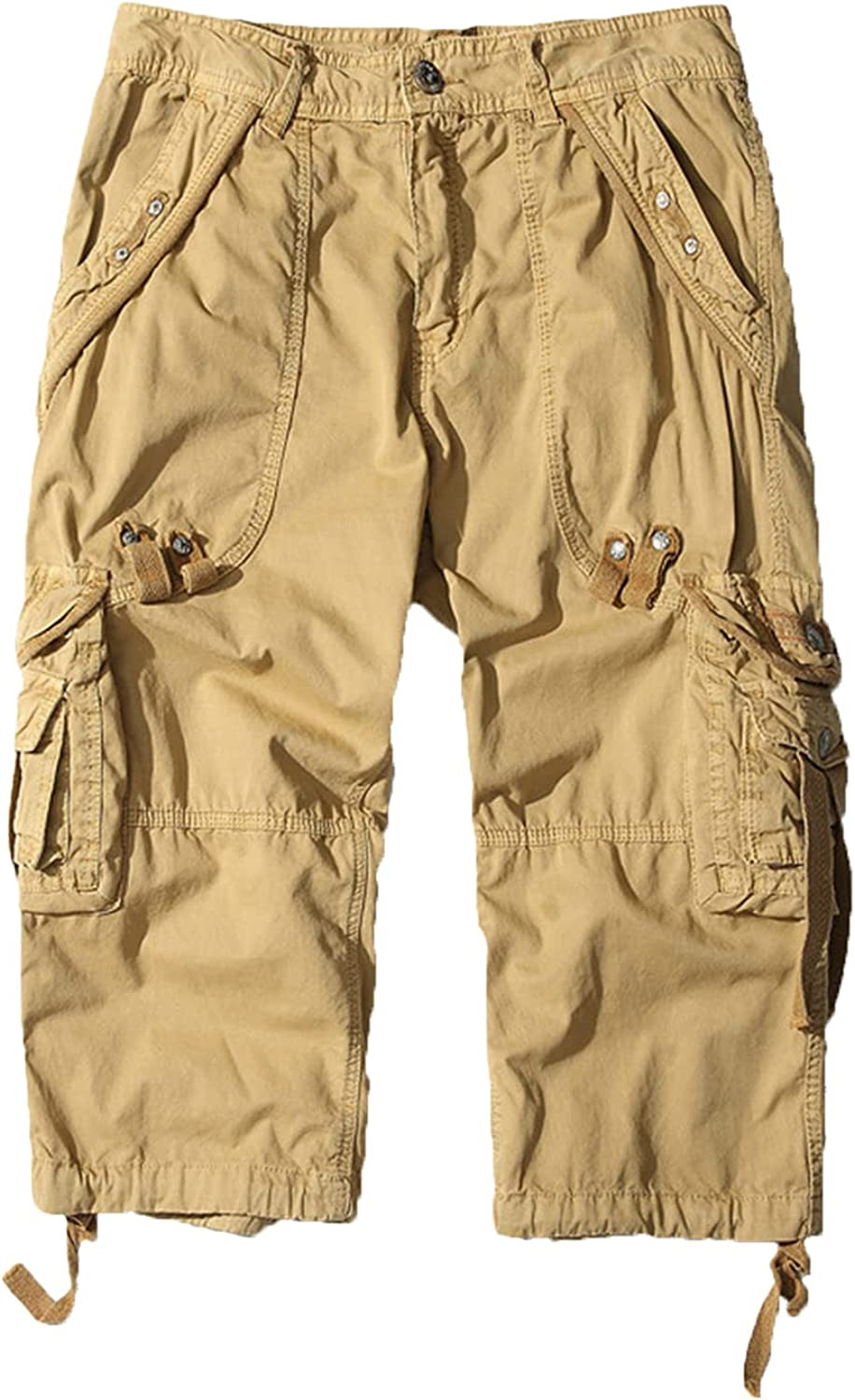 Men's Casual Straight Workout Cargo Pockets Durable Short Miami Mall Bombing free shipping Multi
