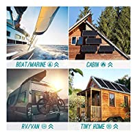 Renogy 100 Watt 12 Volt Monocrystalline Solar Panel Ideal for Off Grid PV System on Motorhome, Caravan, Camper, yacht or Boat (Compact Design) 7