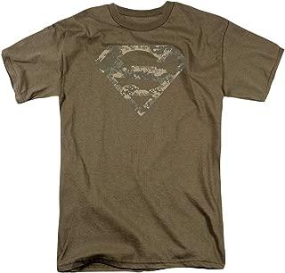Superman Digital Camo Logo S Shield T Shirt & Stickers