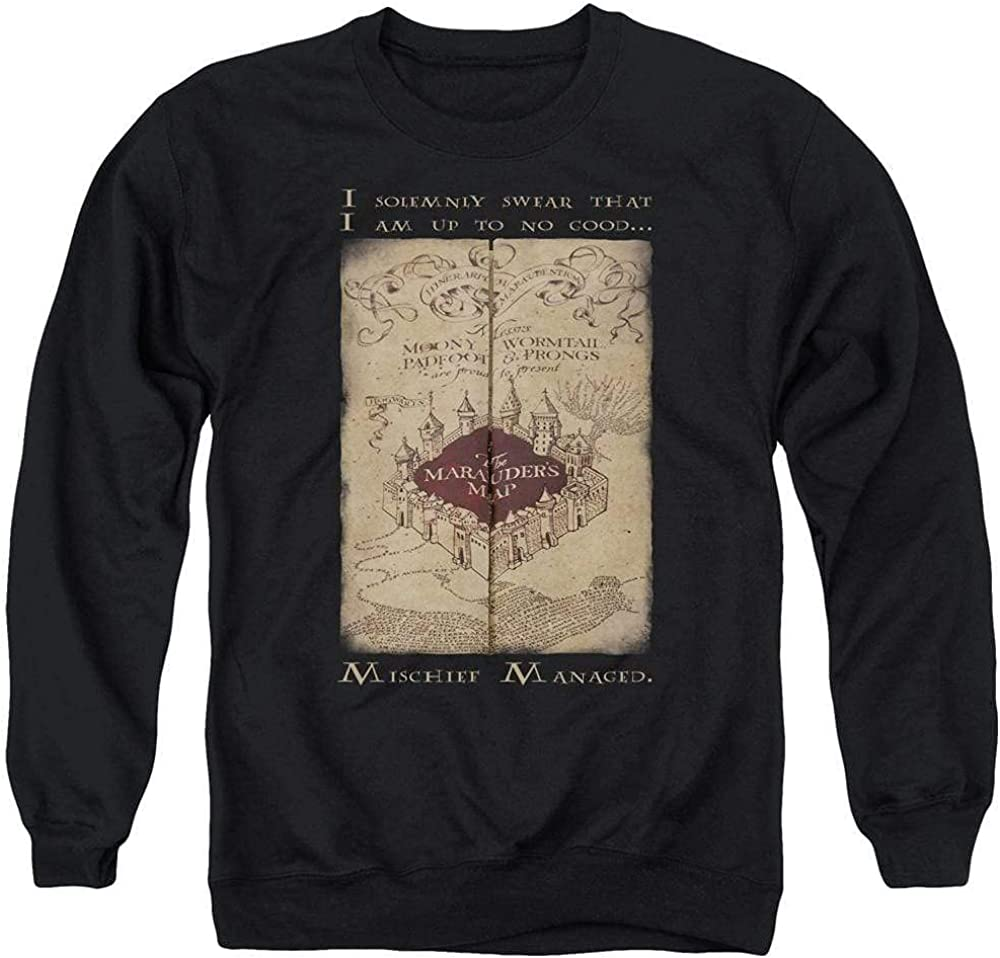Sons Charlotte Mall of Gotham Super Special SALE held Harry Potter - Adult Crewnec Map Marauder's Words