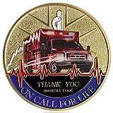 Medical Services EMT/EMS Challenge Coin Paramedic's Prayer Thank You Coin