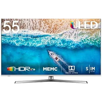 "HISENSE H55U7BE Smart TV ULED Ultra HD 4K 55"", Dolby Vision HDR, Dolby Atmos, Unibody Design, Ultra Dimming, Tuner DVB-T2/S2 HEVC Main10 [Esclusiva Amazon - 2019]"
