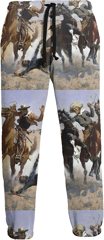 KAWAHATA Aiding a Comrade Men's Pants with Pockets Tapered Athletic Sweatpants 3D Casual Active Sports Pants