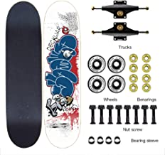 Easy to Navigate Skateboard 80Cmx20cm Skateboard Complete High Precision ILQ-9 Bearing Adopted 100A Wheel Beginners Can Practice Tricks Children/Youth/Adults