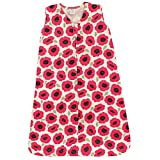 Touched by Nature Baby Organic Cotton Sleeveless Wearable Sleeping Bag, Sack, Blanket, Poppy, 6-12 Months