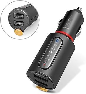 エレコム FM トランスミッター 高音質 重低音 Bluetooth USB×2ポート 2.4A おまかせ充電 [iPhone & iPad & スマホ対応] 1年間保証 ブラック EC-FM02BK