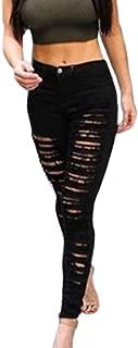 Jumojufol Damen Skinny Jeans Rissen Löcher Mit Hoher Taille Dehnbar Lässig Dünne Lange Lounge Jeans Hosen