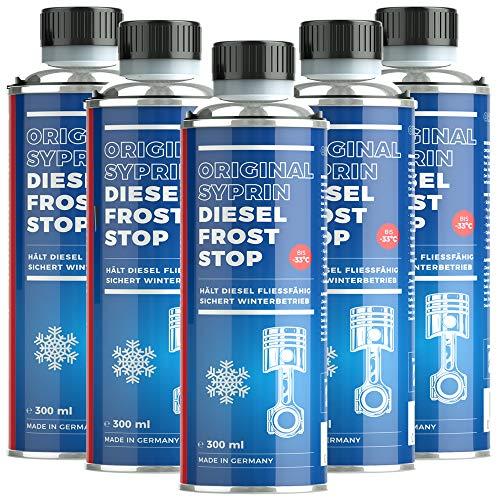 SYPRIN - Aditivo anticongelante para Invierno - Aditivo aditivo de Combustible diésel - Protección contra heladas y protección de Invierno para el Funcionamiento en Invierno 6X 300ml