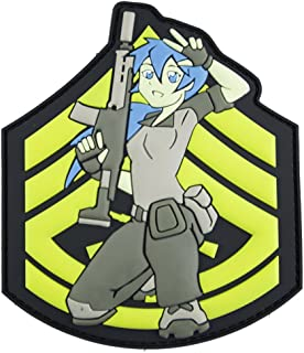 Sgt. Gunny Anime Tactical Morale Patch - Perfect Hook Backed Patches to be Added to Uniforms, Jackets, Backpacks - by Patch Panel
