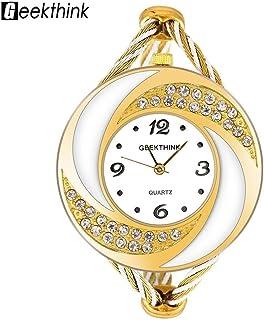 Yuanhua Lady Wrist Watch Rhinestone Quartz Analog Watch Crystal Bangle Wristwatch