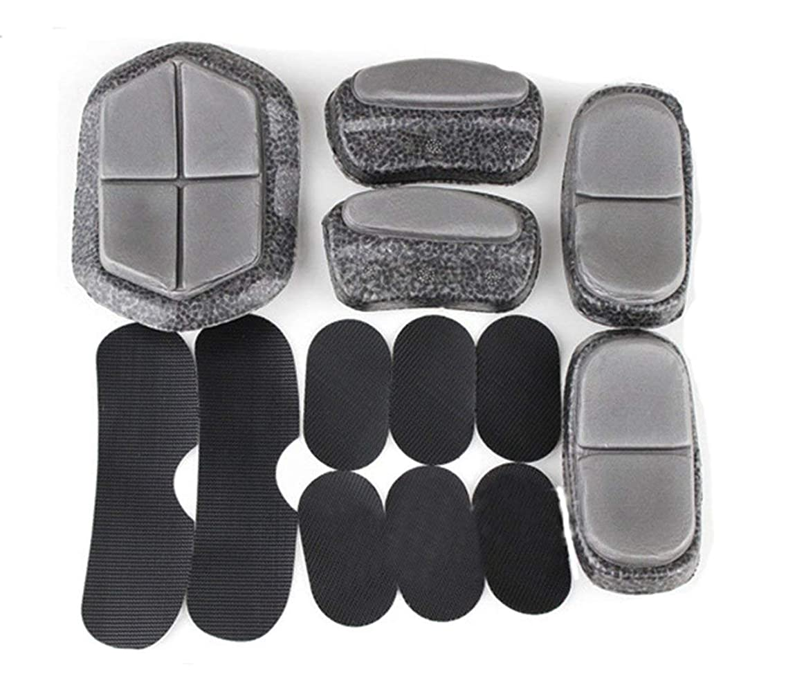 Noga Tbest Foam Helmet Pads Replacement Helmet Protective Pad, 13Pcs Tactical Helmet Padding Foam Pad Set Airsoft Paintball Fast Helmet DIY Protective Cushion
