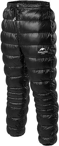 Naturehike Outdoor Pantalons imperméables en Plein air Hommes Femmes Alpinisme Camping Chaud Hiver Pantalon en Duvet d'oie Nouvelle NH18K210-K
