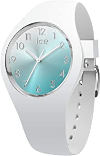 Ice-Watch - Ice Sunset Turquoise - Montre Blanche pour Femme avec Bracelet en Silicone - 015745 (Small)