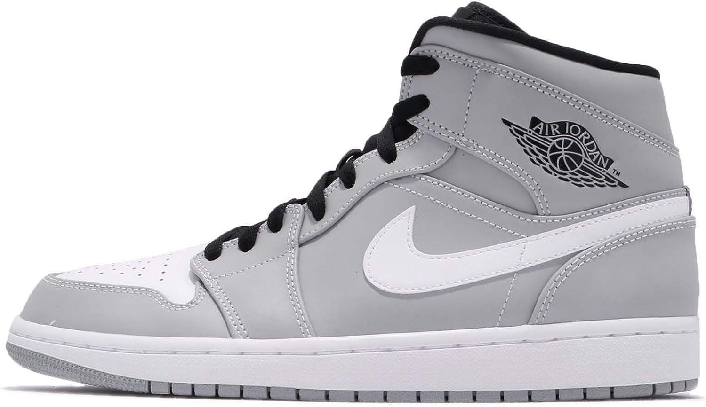 Nike Air Jordan 1 Mid Chaussures de basket-ball pour homme - Gris ...