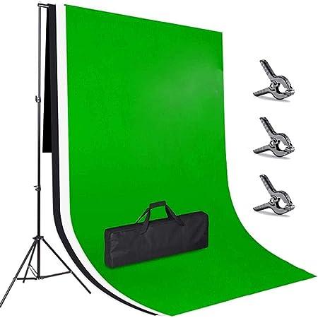 Amzdeal 3 2m Hintergrund Ständer Support System 3pcs Kamera