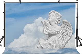 LYLYCTY 7x5ft Angel Statue Backdrop Cute Little Angel Statue Photography Background and Studio Photography Backdrop Props LYGE782