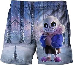 Proxiceen Undertale Strandbroek voor jongens, streetwear, tieners, korte broek, 3D-print, shorts voor jongens, slijtvaste ...