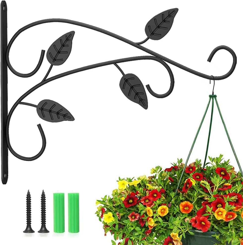 Pucoina 2021 autumn and winter new Hanging Plants Bracket Max 54% OFF 12in Wall Metal Plant Hook Iron