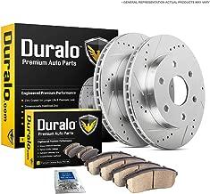 Duralo Rear Brake Pads And Rotors Kit For Chevy Silverado Tahoe Suburban Avalanche GMC Sierra Yukon Cadillac Escalade - Duralo 153-1038 New
