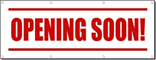 Opening Soon! Promotion Business Sign Banner 2' X 4' W/ 4 Grommets
