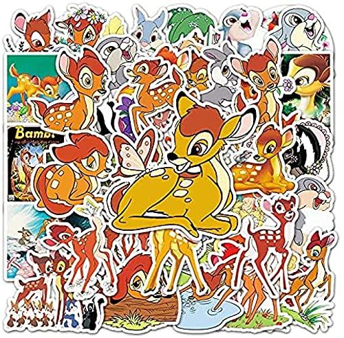 JZLMF 50 pegatinas de graffiti de Fawn, animadas, para taza de agua, cuaderno de notas para maletas, bonitas pegatinas