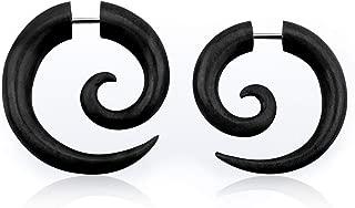 Best spiral plug earrings Reviews