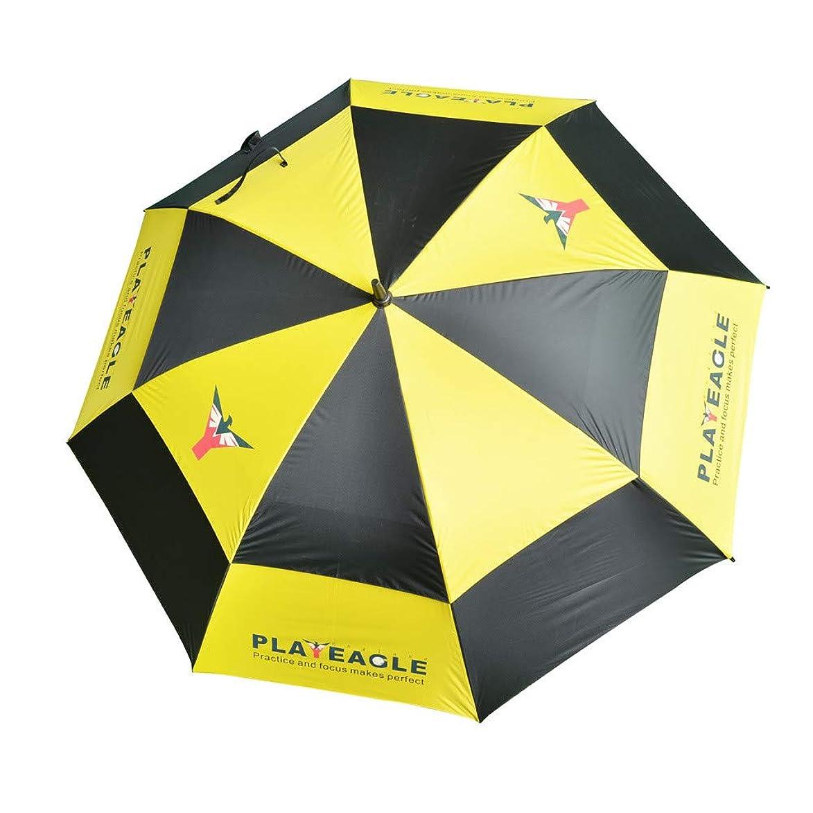 Toxz Double Nylon Canopy Golf Umbrella Anti-UV Windproof Vented Canopy Fiberglass Frame,Auto Open,Large Golf Anti-UV Umbrella