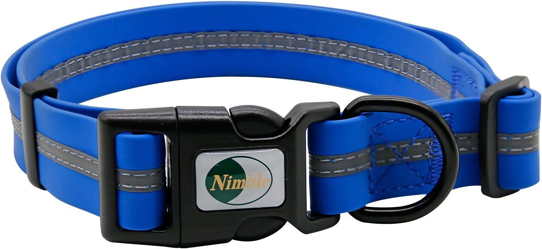 NIMBLE Dog Collar Waterproof Pet Phoenix Mall Collars Max 78% OFF Durable Anti-Odor Adjus