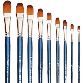 12 Pcs//Kit Matte Blue Rod Nylon Brush Set With Fan-shaped Watercolor Paint Brush
