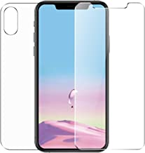 Conleke Front Back Screen Protector for iPhone Xs Max [2-Pack], Tempered Glass [3D Touch] Front Rear Anti-Fingerprint/Scratch Compatible with iPhoneXs Max (Thin) (Front & Back,6.5inch)
