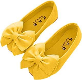 Faux Suede Bow Round Toe Ballet Flats Slip On Shoes (Little Kid/Big Kid)